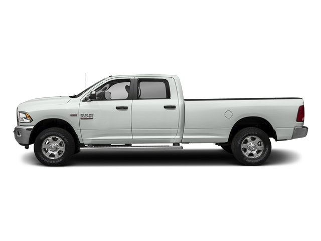 Bright White Clearcoat 2018 Ram Truck 3500 Pictures 3500 Big Horn 4x4 Crew Cab 8' Box photos side view