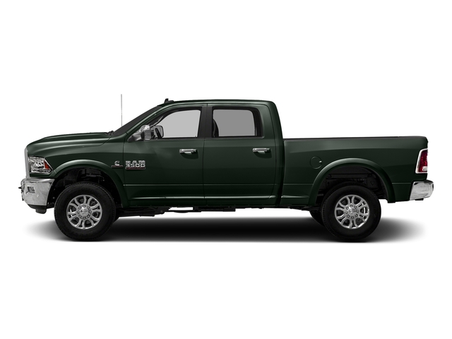 Black Forest Green Pearlcoat 2018 Ram Truck 3500 Pictures 3500 Laramie Longhorn 4x4 Crew Cab 6'4 Box photos side view