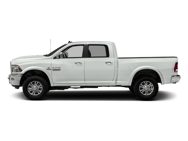 Bright White Clearcoat 2018 Ram Truck 3500 Pictures 3500 Laramie Longhorn 4x4 Crew Cab 6'4 Box photos side view