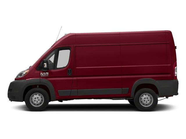 Deep Cherry Red Crystal Pearlcoat 2018 Ram Truck ProMaster Cargo Van Pictures ProMaster Cargo Van 1500 High Roof 136 WB photos side view