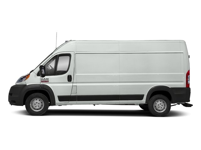 Bright White Clearcoat 2018 Ram Truck ProMaster Cargo Van Pictures ProMaster Cargo Van 2500 High Roof 136 WB photos side view