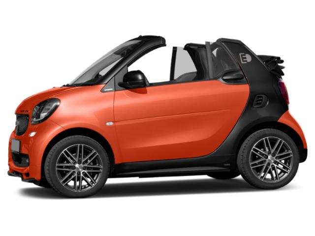 Lava Orange Metallic 2018 smart fortwo electric drive Pictures fortwo electric drive Convertible 2D Passion Electric photos side view