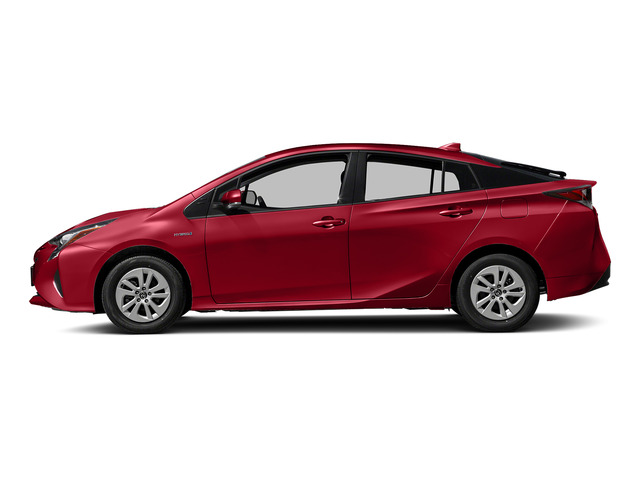 Hypersonic Red 2018 Toyota Prius Pictures Prius Liftback 5D Four I4 Hybrid photos side view