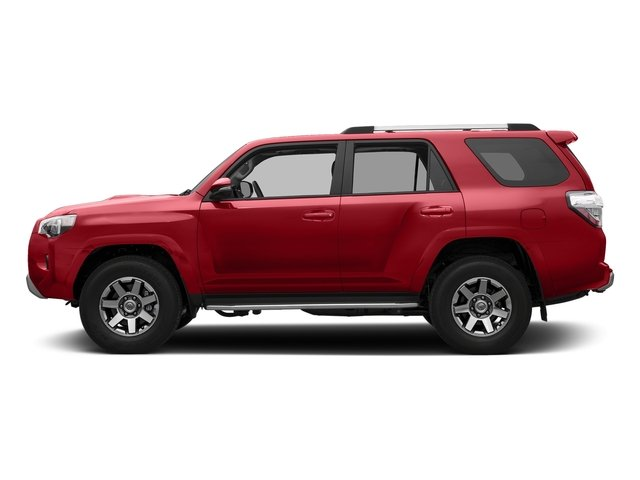 Barcelona Red Metallic 2018 Toyota 4Runner Pictures 4Runner TRD Off Road 4WD photos side view