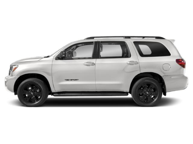 Super White 2018 Toyota Sequoia Pictures Sequoia Utility 4D TRD Sport 2WD photos side view