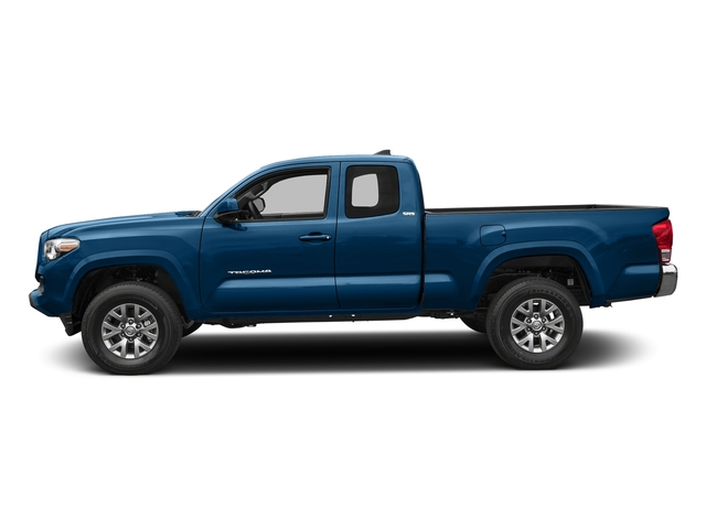 Blazing Blue Pearl 2018 Toyota Tacoma Pictures Tacoma SR5 Extended Cab 4WD I4 photos side view