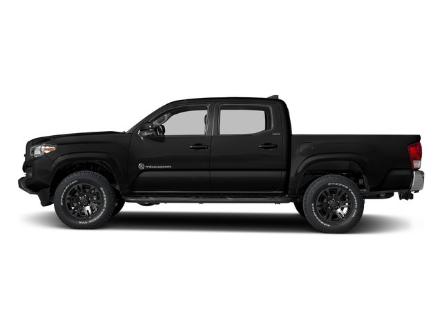 Midnight Black Metallic 2018 Toyota Tacoma Pictures Tacoma SR5 Crew Cab 4WD V6 photos side view