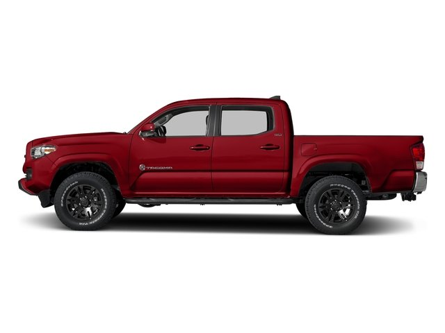 Barcelona Red Metallic 2018 Toyota Tacoma Pictures Tacoma SR5 Crew Cab 4WD V6 photos side view