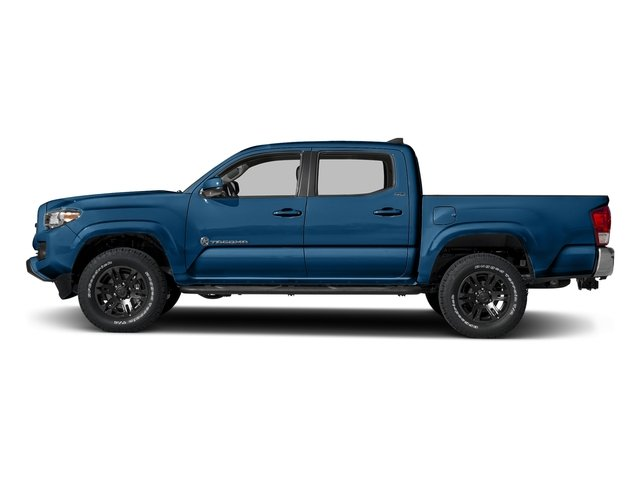 Blazing Blue Pearl 2018 Toyota Tacoma Pictures Tacoma SR5 Crew Cab 4WD V6 photos side view