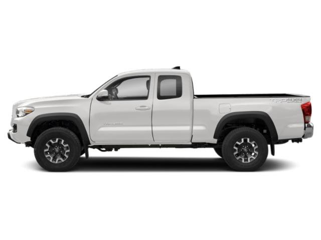 Super White 2018 Toyota Tacoma Pictures Tacoma TRD Off-Road Extended Cab 4WD V6 photos side view