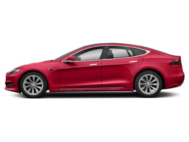 Red Multi-Coat 2018 Tesla Motors Model S Pictures Model S Sedan 4D D 100 kWh AWD photos side view