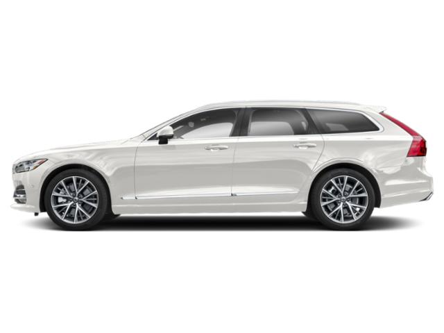 Crystal White Pearl Metallic 2018 Volvo V90 Pictures V90 T6 AWD Inscription photos side view