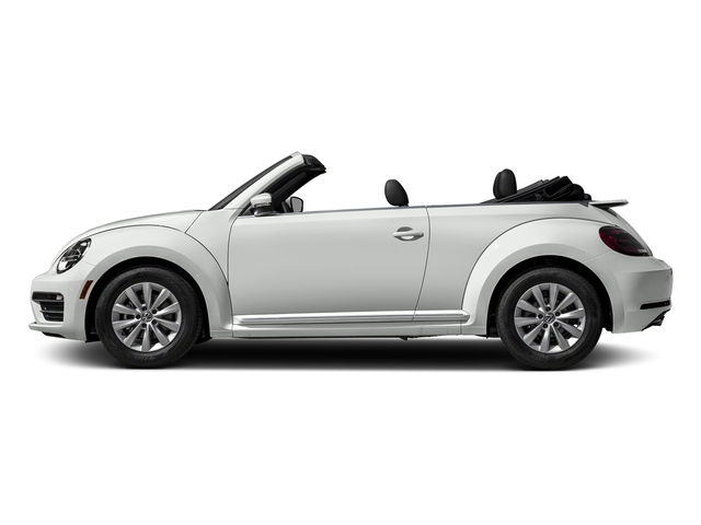 Pure White/Black Roof 2018 Volkswagen Beetle Convertible Pictures Beetle Convertible S Auto photos side view