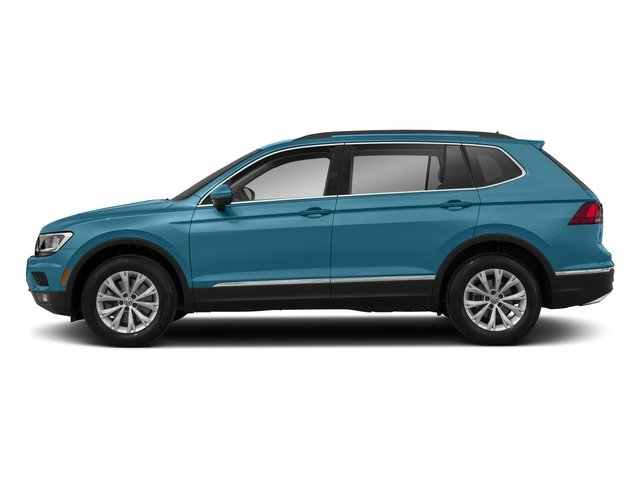 Silk Blue Metallic 2018 Volkswagen Tiguan Pictures Tiguan 2.0T SEL 4MOTION photos side view