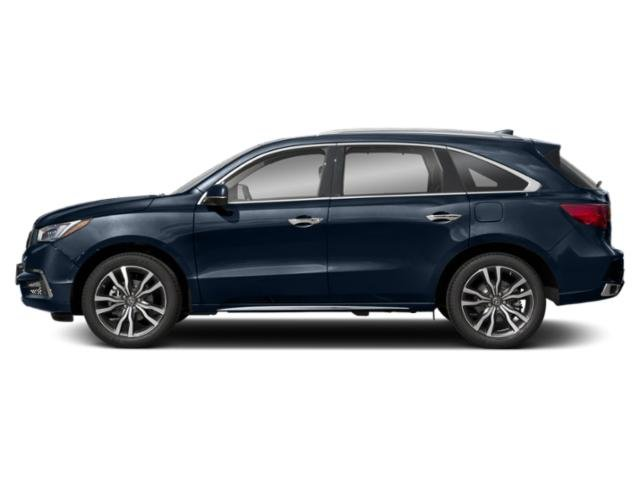 Fathom Blue Pearl 2019 Acura MDX Pictures MDX SH-AWD w/Advance/Entertainment Pkg photos side view
