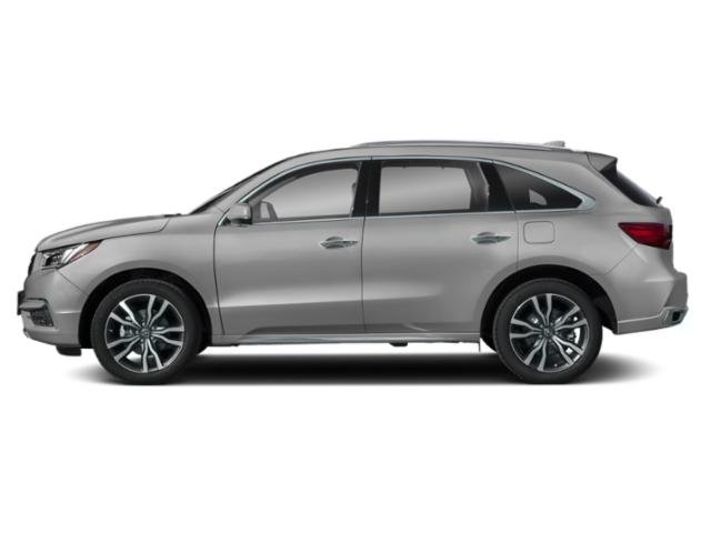 Lunar Silver Metallic 2019 Acura MDX Pictures MDX SH-AWD w/Advance Pkg photos side view