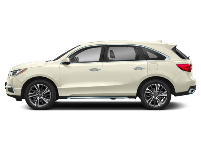 White Diamond Pearl 2019 Acura MDX Pictures MDX FWD w/Technology/Entertainment Pkg photos side view