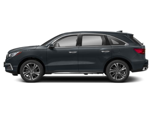 Gunmetal Metallic 2019 Acura MDX Pictures MDX FWD w/Technology Pkg photos side view