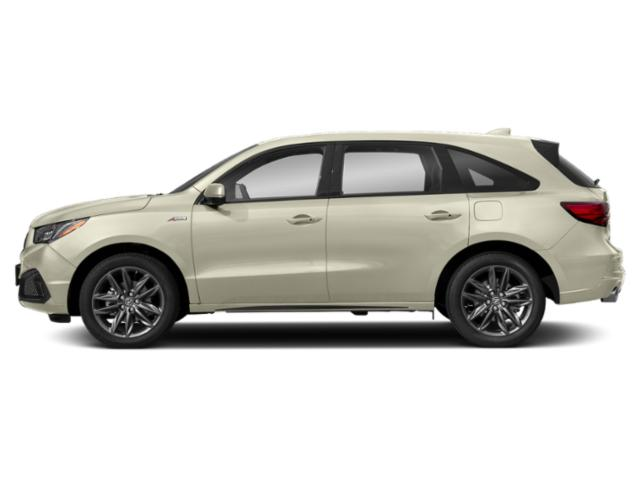 White Diamond Pearl 2019 Acura MDX Pictures MDX SH-AWD w/Technology/A-Spec Pkg photos side view