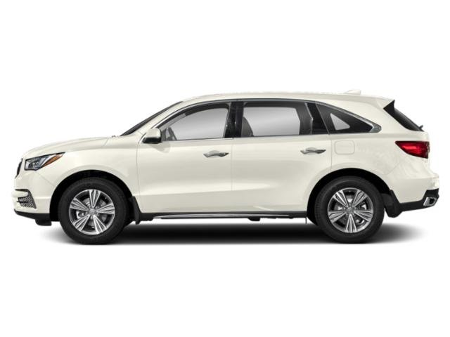 White Diamond Pearl 2019 Acura MDX Pictures MDX SH-AWD photos side view