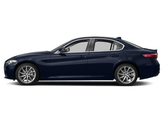 Misano Blue Metallic 2019 Alfa Romeo Giulia Pictures Giulia Ti Sport AWD photos side view