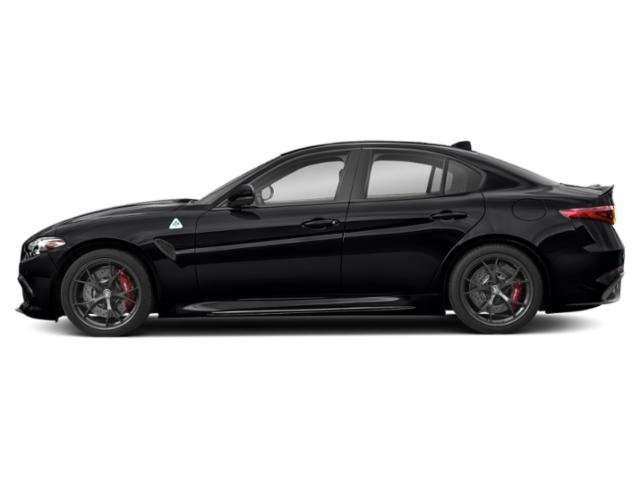 Vulcano Black Metallic 2019 Alfa Romeo Giulia Pictures Giulia Ti AWD photos side view