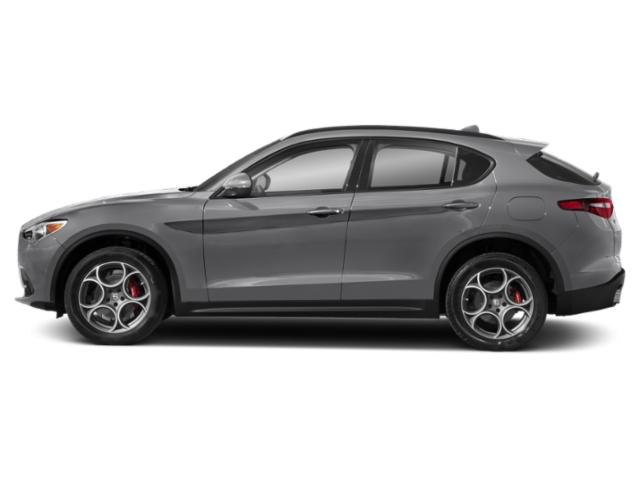 Silverstone Gray Metallic 2019 Alfa Romeo Stelvio Pictures Stelvio Sport RWD photos side view
