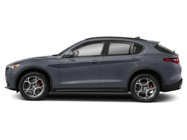 Stromboli Gray Metallic 2019 Alfa Romeo Stelvio Pictures Stelvio Sport RWD photos side view