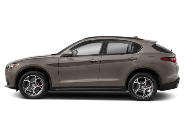Imola Titanium Metallic 2019 Alfa Romeo Stelvio Pictures Stelvio Ti AWD photos side view