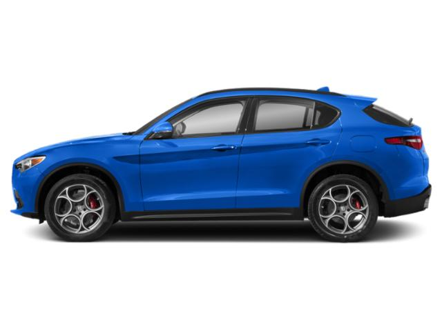Misano Blue Metallic 2019 Alfa Romeo Stelvio Pictures Stelvio Ti AWD photos side view