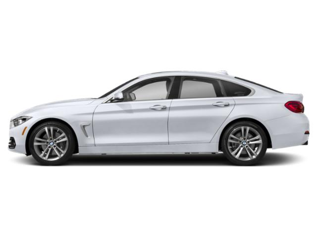 Frozen Silver Metallic 2019 BMW 4 Series Pictures 4 Series 440i xDrive Gran Coupe photos side view