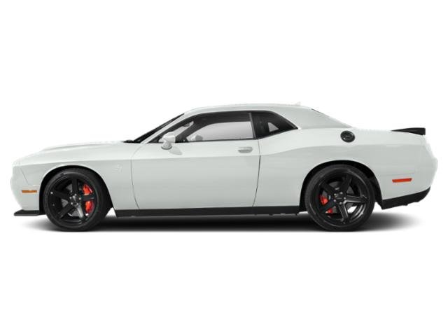 White Knuckle Clearcoat 2019 Dodge Challenger Pictures Challenger SRT Hellcat RWD photos side view