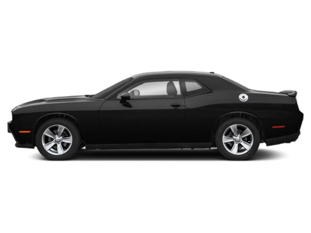 Pitch Black Clearcoat 2019 Dodge Challenger Pictures Challenger SXT RWD photos side view