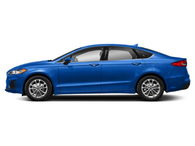 Velocity Blue Metallic 2019 Ford Fusion Pictures Fusion SEL FWD photos side view