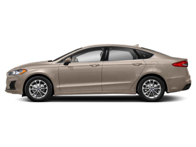 White Gold Metallic 2019 Ford Fusion Pictures Fusion SEL FWD photos side view