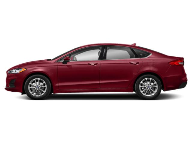 Ruby Red Metallic Tinted Clearcoat 2019 Ford Fusion Pictures Fusion SEL FWD photos side view