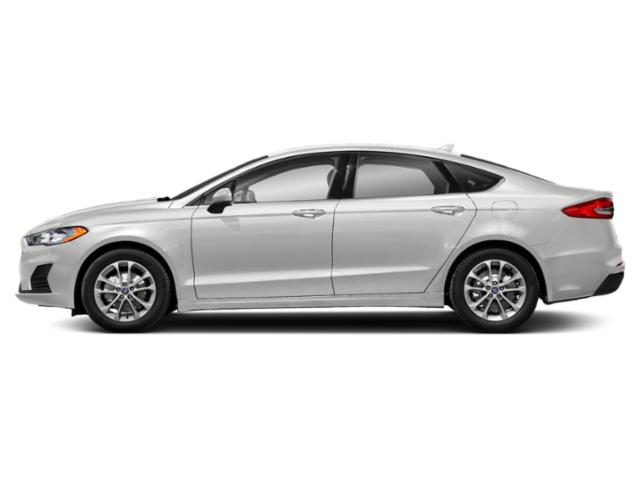 Oxford White 2019 Ford Fusion Pictures Fusion SEL FWD photos side view