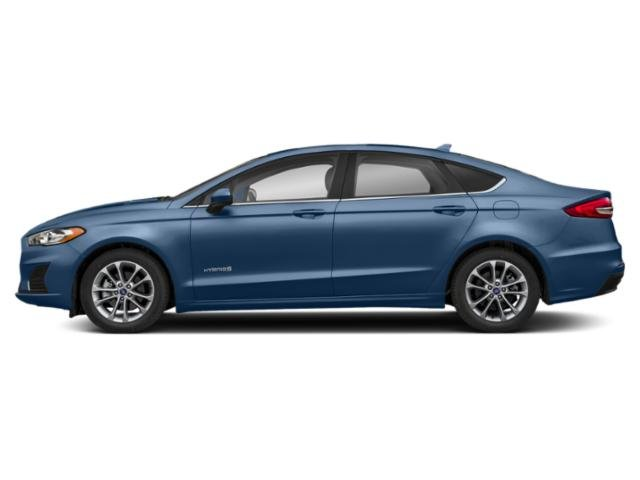 Blue Metallic 2019 Ford Fusion Hybrid Pictures Fusion Hybrid SEL FWD photos side view