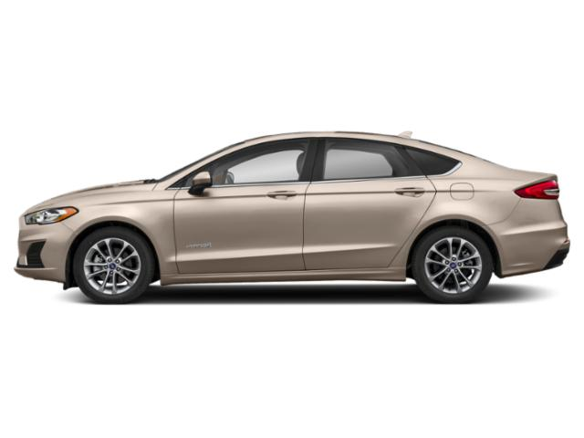 White Gold Metallic 2019 Ford Fusion Hybrid Pictures Fusion Hybrid SEL FWD photos side view