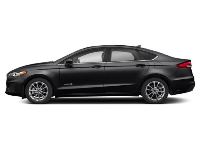 Agate Black 2019 Ford Fusion Hybrid Pictures Fusion Hybrid SE FWD photos side view