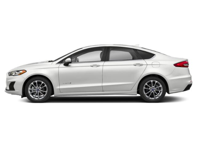 Oxford White 2019 Ford Fusion Hybrid Pictures Fusion Hybrid SEL FWD photos side view
