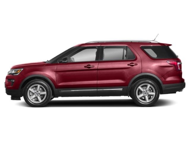 Ruby Red Metallic Tinted Clearcoat 2019 Ford Explorer Pictures Explorer XLT FWD photos side view