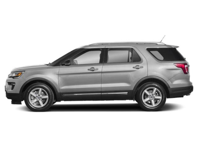 Ingot Silver Metallic 2019 Ford Explorer Pictures Explorer XLT FWD photos side view
