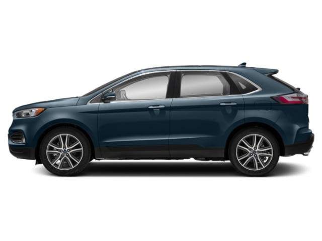 Blue Metallic 2019 Ford Edge Pictures Edge SEL AWD photos side view