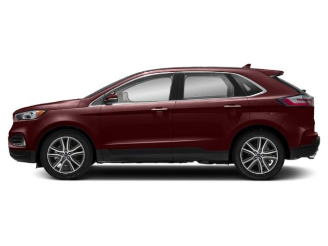 Burgundy Velvet Metallic Tinted Clearcoat 2019 Ford Edge Pictures Edge SEL AWD photos side view