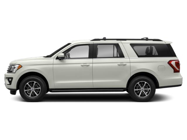 White Platinum Metallic Tri-Coat 2019 Ford Expedition Max Pictures Expedition Max XLT 4x2 photos side view