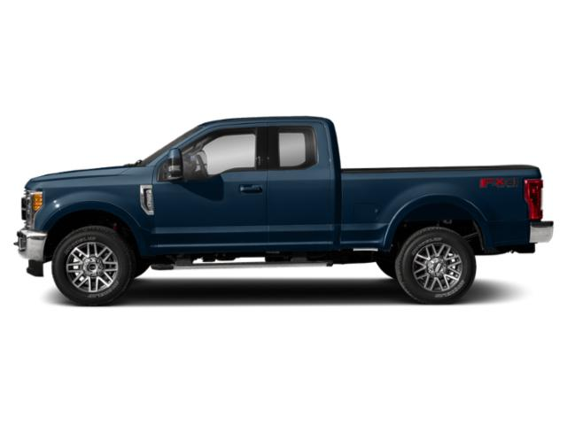 Blue Jeans Metallic 2019 Ford Super Duty F-350 SRW Pictures Super Duty F-350 SRW LARIAT 2WD SuperCab 8' Box photos side view