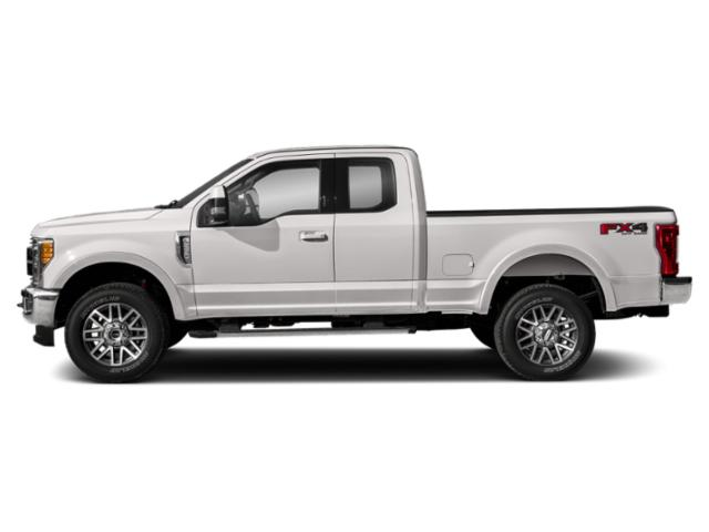 White Platinum Metallic Tri-Coat 2019 Ford Super Duty F-350 SRW Pictures Super Duty F-350 SRW LARIAT 2WD SuperCab 8' Box photos side view