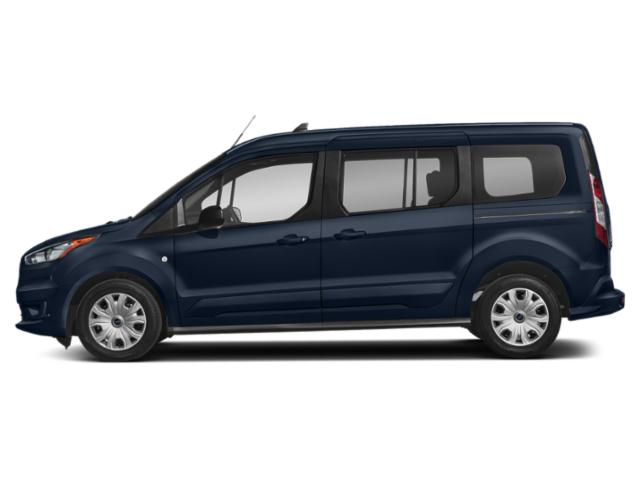 Dark Blue 2019 Ford Transit Connect Wagon Pictures Transit Connect Wagon XLT LWB w/Rear Liftgate photos side view
