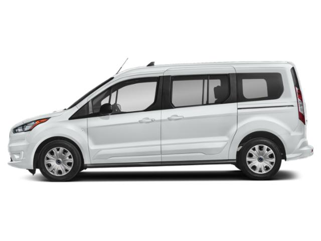 Frozen White 2019 Ford Transit Connect Wagon Pictures Transit Connect Wagon XLT LWB w/Rear Liftgate photos side view